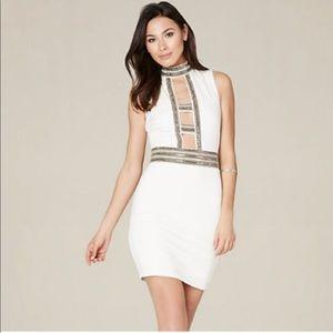 Bebe Dress with Rhinestone neckline
